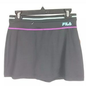 FILA SPORT BLACK W/ PURPLE AND TEEL STITCHING X-S